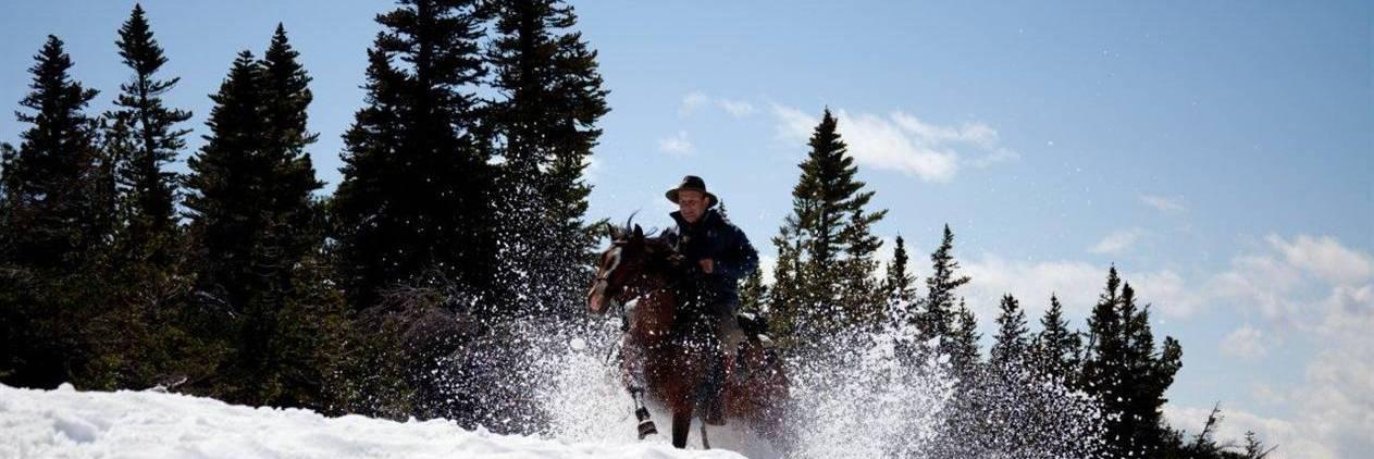 Cavalgada nas Montanhas do Canada